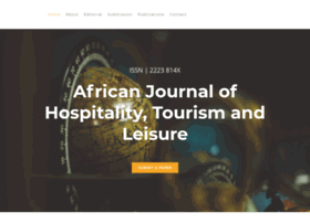 Calls for paper, African Journal of Hospitality, Tourism and Leisure, AJHTL 2020, COVID-19, Peer-reviewed academic journals, Scholarly journals, Academic journals, Academic journal article, Scholarly journal articles
