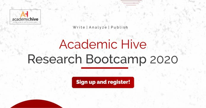 Academic Hive (AH) Research Bootcamp 2020, Research training, Research training opportunities, Opportunities for graduate, Opportunities for researchers, Training for scholars, Opportunity for scholars Academia, Researchers