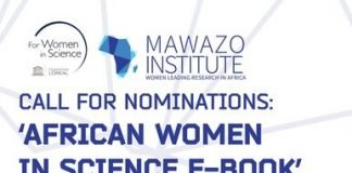 Call for Nominations: 'African Women in Science E-Book' Mawazo Institute, The Mawazo Institute, female African researchers, Call for nominations, International award, Award for scientist, STEM