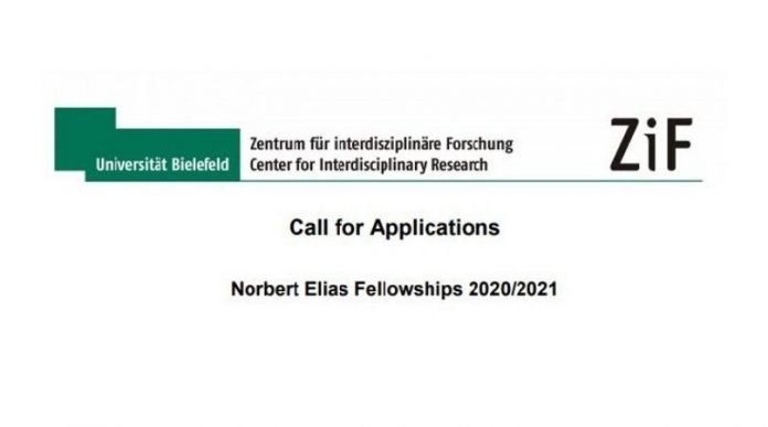 Norbert Elias Fellowship at the Center for Interdisciplinary Research in Bielefeld, Germany 2021, Academic opportunities, Individual fellowship program, Postgraduate fellowship, fellowship applications, International fellowships, fellowship program in Germany, postdoc fellowship, Administrative fellowship, Zentrum für interdisziplinäre Forschung, ZIF, Bielefeld University