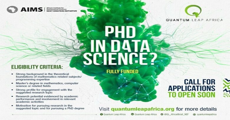 AIMS Doctoral Degree Scholarship in Data Science 2021 (Fully Funded), Ph.D. scholarship, Doctor's degree, International scholarship, Scholarship application, AIMS Doctoral training program
