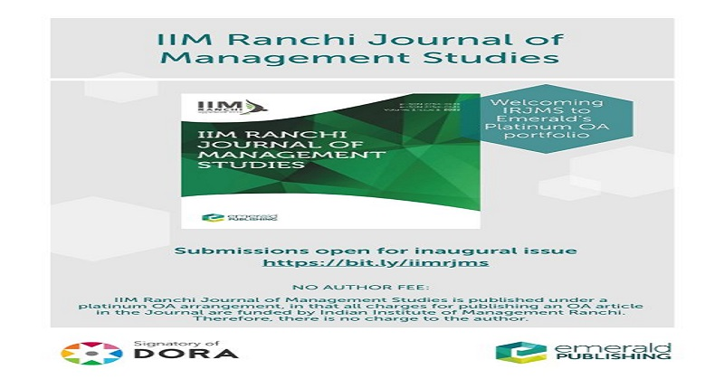 Academic Research, The Indian Ranchi Journal of Management Studies (IRJMS) Call for Papers, Call for Papers, call for papers in journals, Emerald call for papers, call for research papers, international journals call for papers free of charge, call for papers history