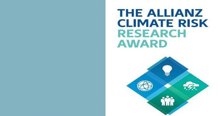 Award, outstanding performance, International award, Allianz Climate Risk Research International Award 2021