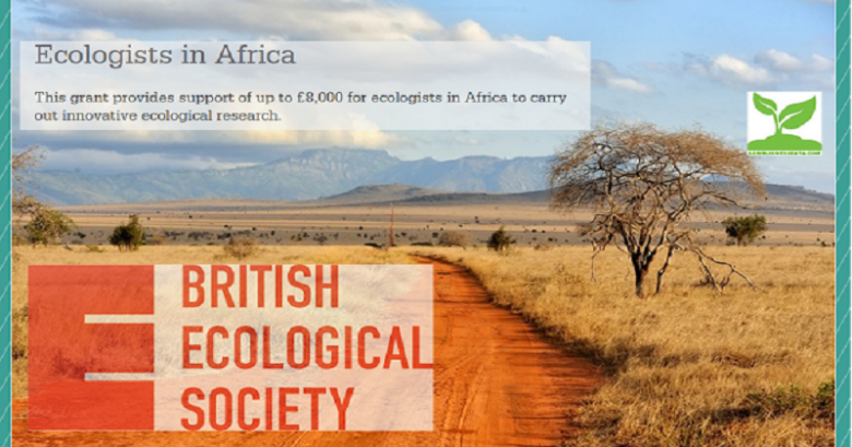 grant writing, Research grants, Grants for Researchers, International grant, British Ecological Society (BES) Research Grant for African Ecologist 2021