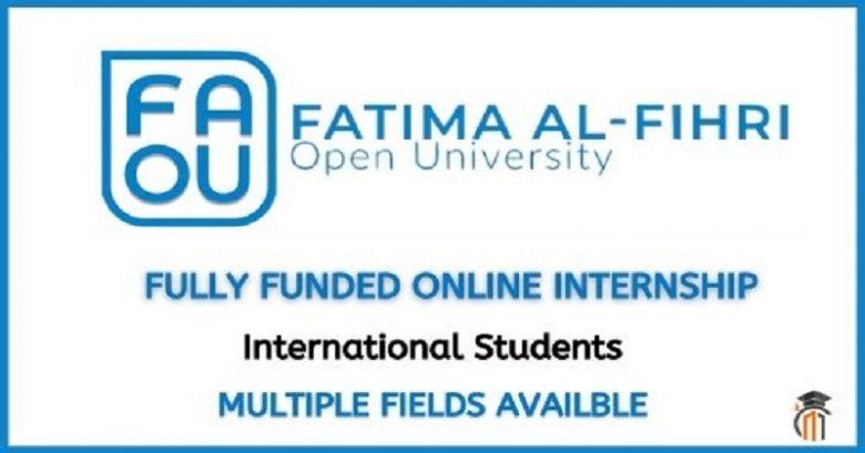 Fatima Al-Fihri Open University (FAOU) Autumn Internship 2021 (online), Fatima Al-Fihri Open University (FAOU) Autumn Internship 2021 (online), Internship program, graduate internship, International opportunity, Job position, Online internship, virtual internship program, FAOU Internship Programs