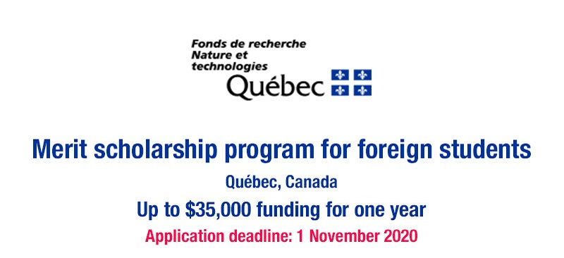 For more information and application to Québec Merit Scholarship Program for Foreign Students, visitthe official site. Tags: Québec Merit Scholarship Program for Foreign Students 2022/23 Scholarship Opportunities, Scholarships for International Students, Doctoral scholarship, Postgraduate scholarship, Postdoctoral scholarship, Canada scholarship program