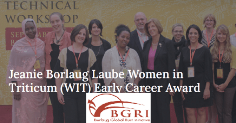 Applications are welcome to for 2022 Jeanie Borlaug Laube Women in Triticum (WIT) Early Career Award. This award, established in 2010, provides professional development opportunities for women working in wheat during the early stages of their career. The award is named after Jeanie Borlaug Laube, mentor to many, and daughter of Nobel Laureate Dr. Norman E. Borlaug. Jeanie Borlaug Laube has served as Chair of the Borlaug Global Rust Initiative since October 2009. Recipients of the Jeanie Borlaug Laube WIT Early Career award will be supported to participate in the International Wheat Congress in 2022 in China. Benefits The Vanier CGS Doctoral Scholarship covers an annual stipend of $50,000 for three years. Eligibility The Women in Triticum Early Career Award is made only to women. There is no age limit, but the award is intended for early career scientists ranging from advanced undergraduates to recent PhD graduates and post- doctoral fellows. Priority is given to women at the pre-professoriate level. Selection Criteria • Strength of scientific abstract submitted to the BGRI annual • technical workshop • Quality of written statement of intent • Commitment to and passion for agricultural development • Leadership potential Application Process To apply for the Women in Triticum Early Career Award, applicants must complete the application form and submit along with a letter of recommendation from a supervisor, professor, or mentor that speaks to the applicant's leadership potential. To apply to the Women in Triticum Early Career Award, click here Deadline: October 31, 2021. For more information, visit the official site . Jeanie Borlaug Laube Women in Triticum (WIT) Early Career Award 2022, International awards, Call for nomination, Award of outstanding performance, Award of acknowledgements, Award of recognition