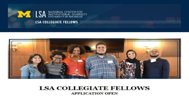 LSA Collegiate Fellowship for Scholars 2022, Fellowship applications, postdoctoral fellowship, Opportunities for scholars, Scholar's fellowship, Postdoc fellowship, Doctoral fellowship